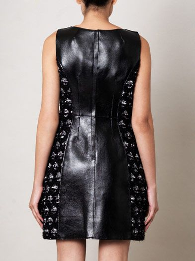 Marc Jacobs Medallion tweed and leather dress