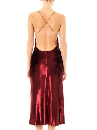 Marc Jacobs Velvet cross-back dress