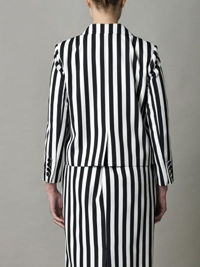 Marc Jacobs Stripe techno-twill jacket