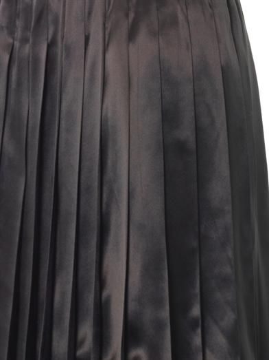Marc Jacobs Pleated silk-satin skirt