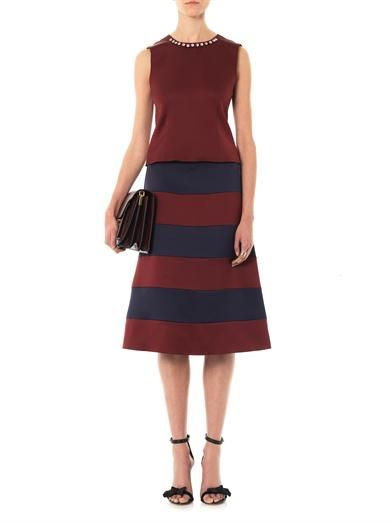 Marc Jacobs Satin Stripe A-line skirt