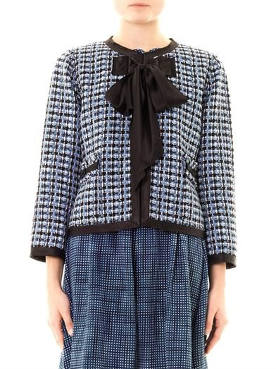 Marc Jacobs Silk bow tweed jacket