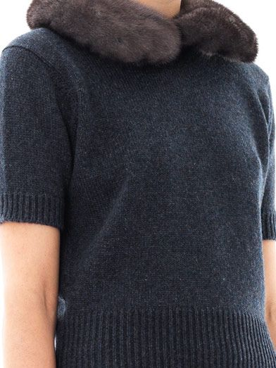 Marc Jacobs Mink-collar cashmere sweater