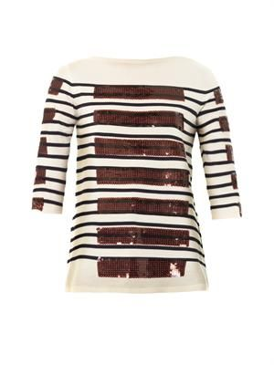 Breton sequin stripe sweater
