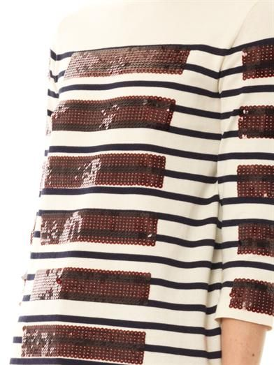 Marc Jacobs Breton sequin stripe sweater