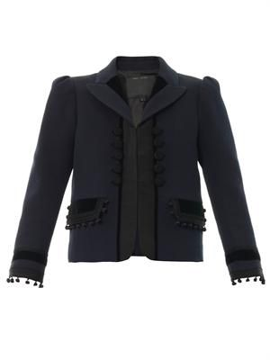 Tailored cotton-piqué jacket