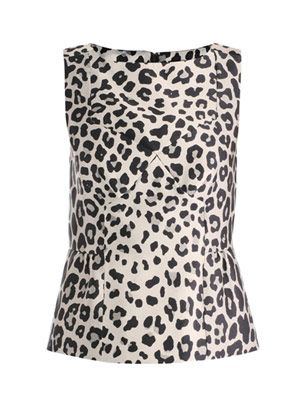 Satin leopard-print top