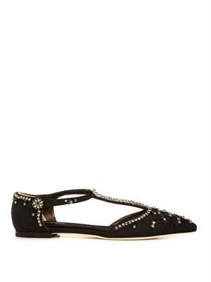 Bellucci point-toe embellished flats