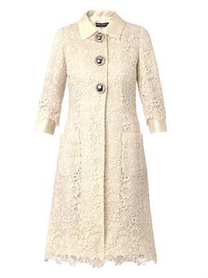 Macramé lace coat