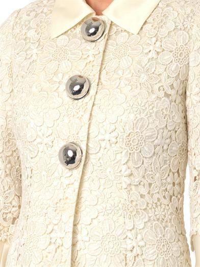 Dolce & Gabbana Macramé lace coat