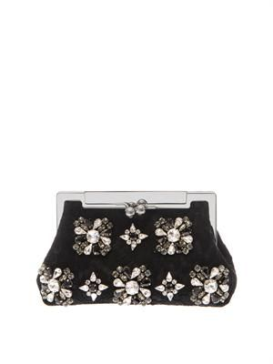 Sara lace and crystal evening bag