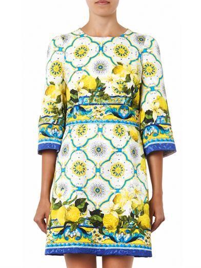 Dolce & Gabbana Sicilian lemon-print jacquard dress