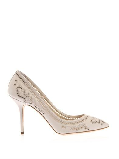 Dolce & Gabbana Bellucci embroidered leather pumps