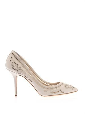 Bellucci embroidered leather pumps