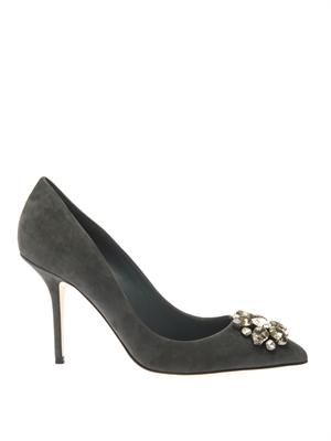 Bellucci embellished suede pumps