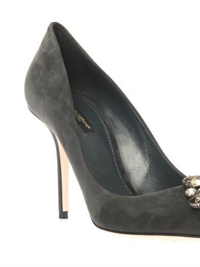 Dolce & Gabbana Bellucci embellished suede pumps