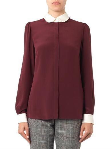 Dolce & Gabbana Bi-colour silk shirt