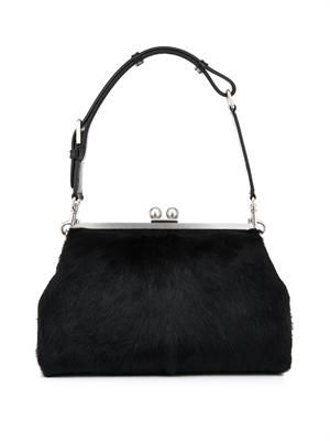Agata calf-hair shoulder bag