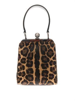 Agata calf-hair box bag