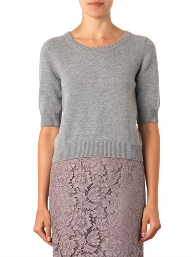 Dolce & Gabbana Short-sleeved cashmere sweater