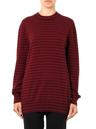 Dolce & Gabbana Striped cashmere-knit sweater