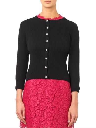 Dolce & Gabbana Cashmere jewel-button cardigan