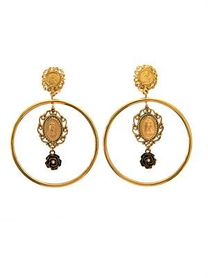 Heritage Madonna hoop earrings