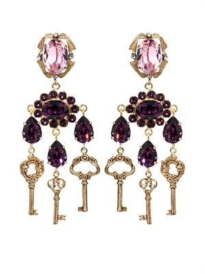 Key drop earrings
