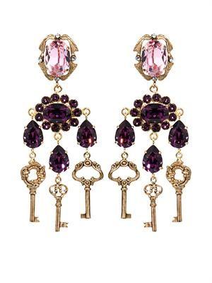 Key drop earrings