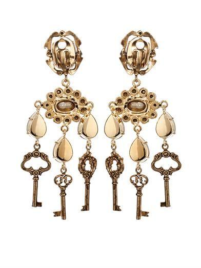 Dolce & Gabbana Key drop earrings