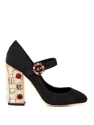 Vally embellished-heel Mary Jane shoes