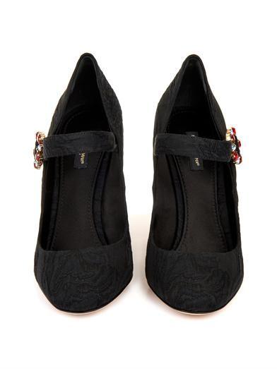 Dolce & Gabbana Vally embellished-heel Mary Jane shoes