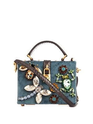 Miss Dolce velvet shoulder bag