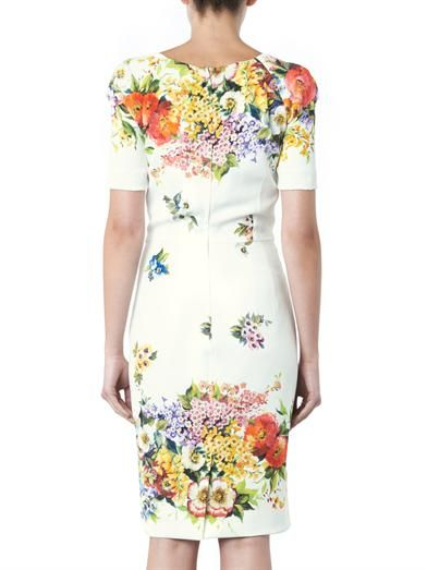 Dolce & Gabbana Floral-print silk charmeuse dress