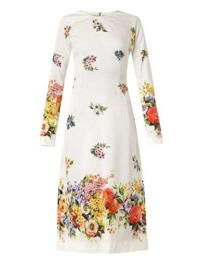 Dolce & Gabbana Floral-print silk dress