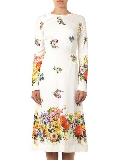 Dolce & Gabbana Floral-print silk dress
