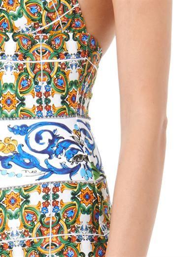 Dolce & Gabbana Maiolica-print swimsuit