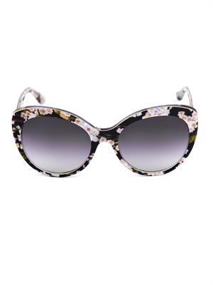 Floral cat-eye sunglasses