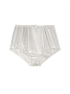 Stretch-satin high-waisted briefs