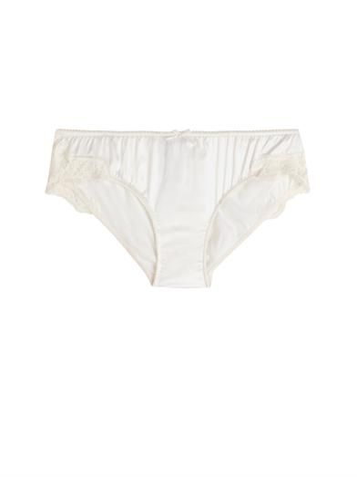 Dolce & Gabbana Stretch-satin and lace briefs