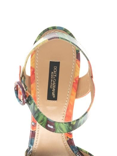 Dolce & Gabbana Majolica-print leather platform sandals