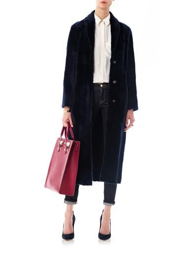 Drome Reversible shawl lapel coat
