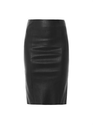 Nappa leather skirt