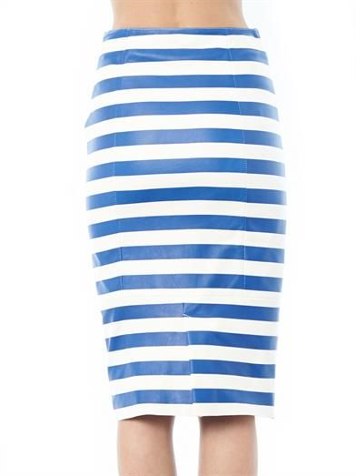 Drome Striped leather pencil skirt