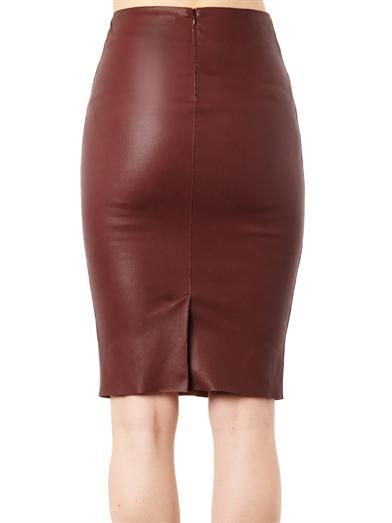 Drome Nappa leather pencil skirt