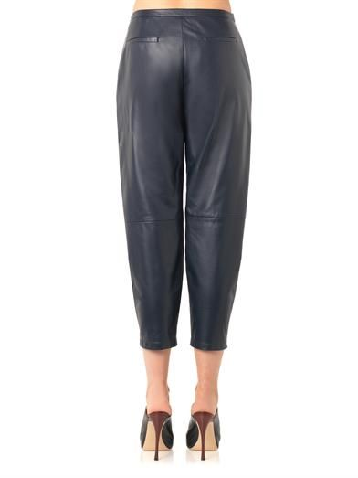 Drome Pleated-front leather trousers