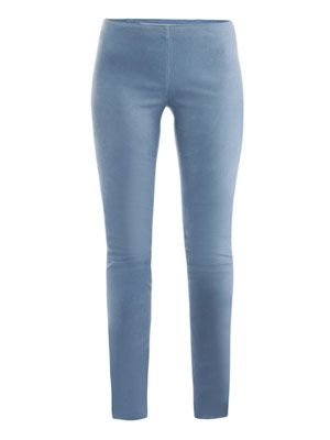 Matte suede leggings