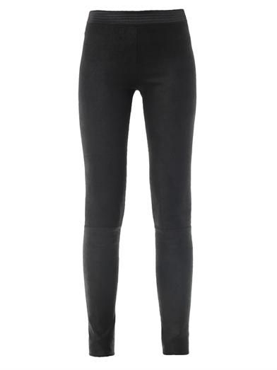 Drome Waxed suede leggings