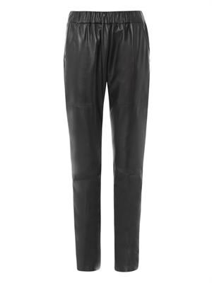 Nappa leather joggers