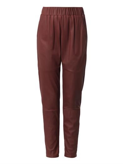 Drome Relaxed-fit leather trousers